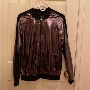 Betabrand gunmetal disco track jacket - never worn
